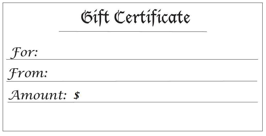 Fieldstation.co  Gift Certificates Templates Free Printable